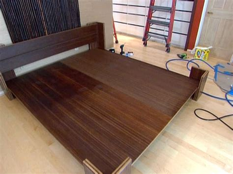 how to make a bed frame out of pallets how to build a bamboo platform bed easy crafts and