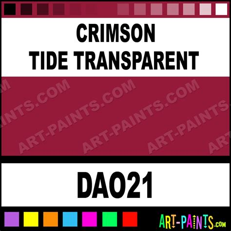 crimson tide colors crimson tide transparent decoart acrylic paints dao21