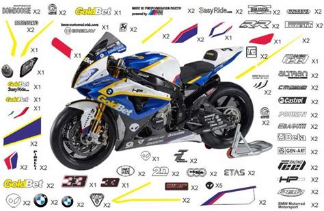 Sticker Kit Motorrad by Stickers Replica Bmw Motorrad Goldbet Sbk 2013 S 1000 Rr