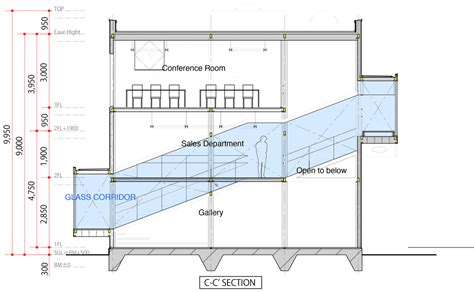 office block floor plans masato sekiya wraps a glass corridor around an office
