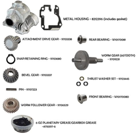 KitchenAid 6 Quart Mixer Gear Assembly Kit   View all 6