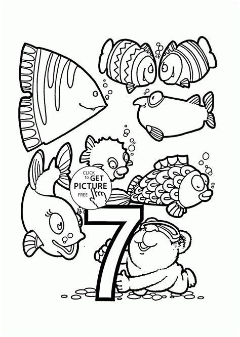 Number 7 Coloring Pages For Preschoolers by Number 7 Coloring Pages For Preschoolers Counting Numbers
