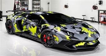 Blue Camo Lamborghini Novitec Lamborghini Aventador Sv With Camo
