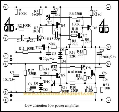 transistor lifier distortion circuit diagram simple low distortion audio lifier circuit diagram