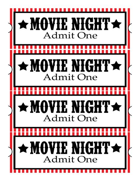 printable movie ticket clipart best