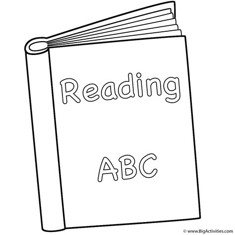 Reading Book Coloring Page Back To School Book Colouring Page