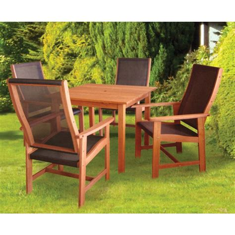 textilene patio furniture dalbeattie textilene garden table and chair set buy at qd stores