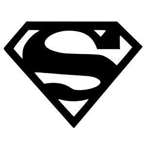 platinum place superman logo black vinyl cut external
