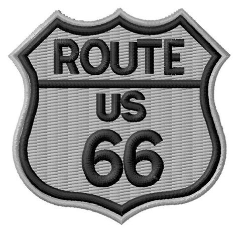 embroidery design route 66 text and shapes embroidery design route 66 sign from