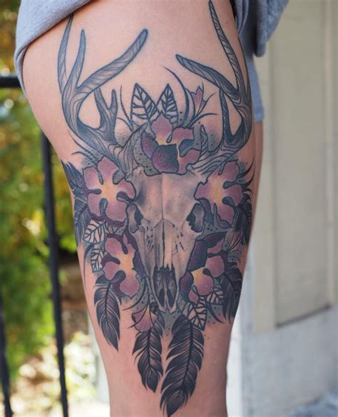 deer skull tattoo meaning 20 cool deer skull tattoos you ll adore deer skull