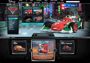Cars Official Website Disney Cars 1 Character Names Car Interior Design
