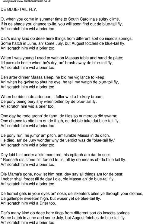 blue song time song lyrics for 37 de blue fly