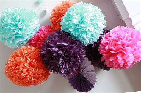 Brooch Corsage Pompom Orange 2 how to diy paper pom tutorial a simple tutorial on paper poms this one