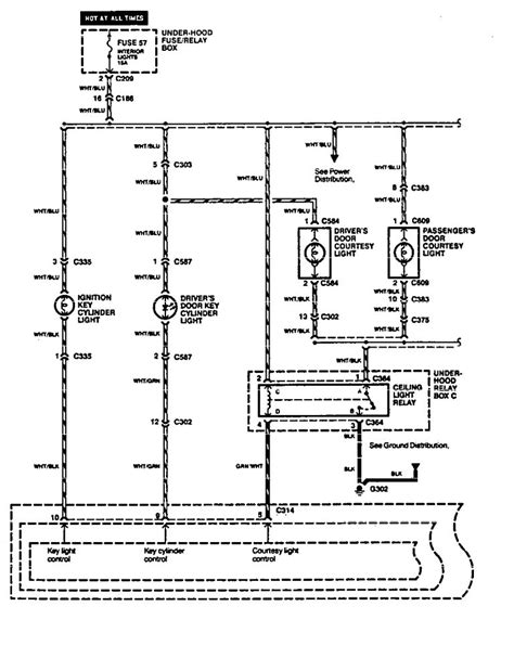acura legend 1994 1995 wiring diagram interior