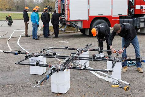fire fighting drone fighting fire with drones fire apparatus