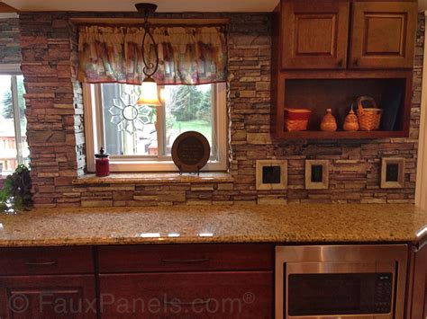 kitchen backsplash panel brick veneer creative faux panels