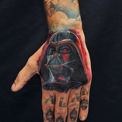darth vader thigh tattoo geeky tattoos 32 star wars tattoos for real fans and geeks styleoholic