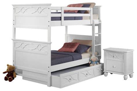 3 Bunk Bed Set by Homelegance Sanibel 3 Bunk Bed Bedroom Set In
