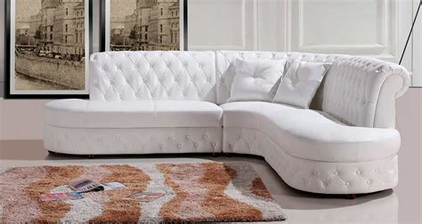 white sectional leather sofa modern modern white leather sectional sofa vg818 leather sectionals
