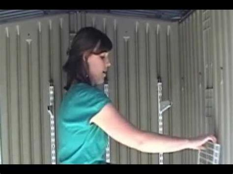 rubbermaid roughneck shed accessories installation youtube