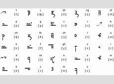 Sarati alphabet Elven Numbers