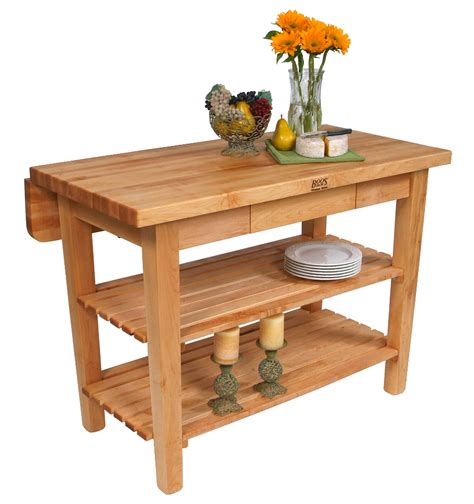 Kitchen Island With Drop Leaf Breakfast Bar by Butcher Block Kitchen Island John Boos Islands