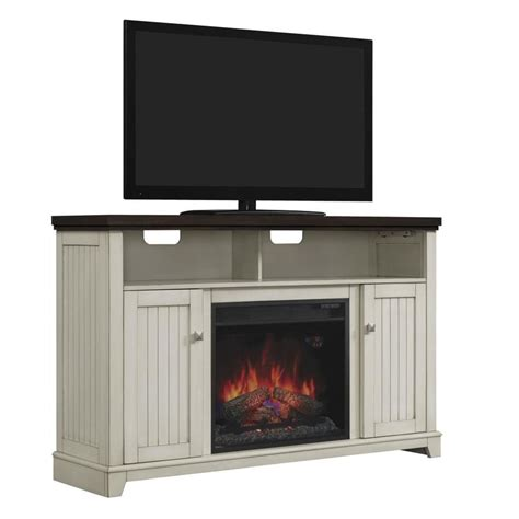White Electric Fireplace Lowes by Shop Chimney Free 56 In W 4600 Btu White Wood Veneer Fan