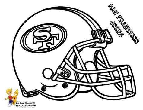 49ers Coloring Page by Football And Rugby Coloring Pages