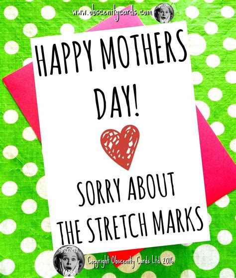 Reese Is Happy With Stretch Marks And All by Happy Mothers Day Card Sorry About The Stretch Marks