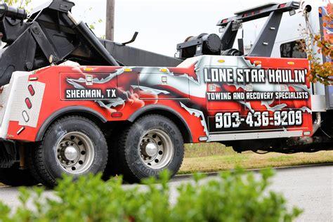 lonestar haulin custom tow truck wrap car wrap city