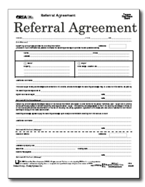 referral fee agreement template 12 best photos of real estate referral form free