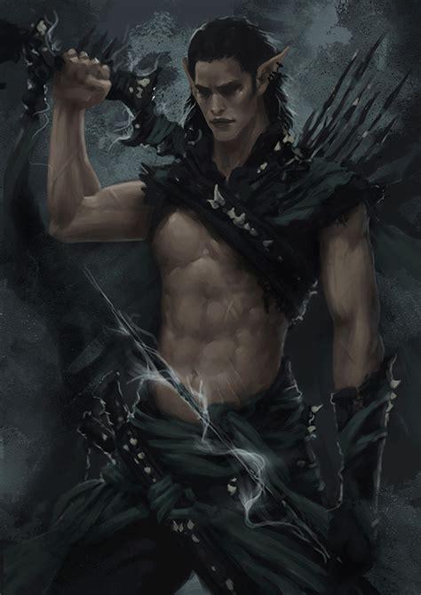 artistry of men men in fantasy art dark elf warrior concept 3 by arsinoes