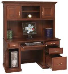 Traditional Computer Desk Amish Traditional Computer Desk With Hutch Option