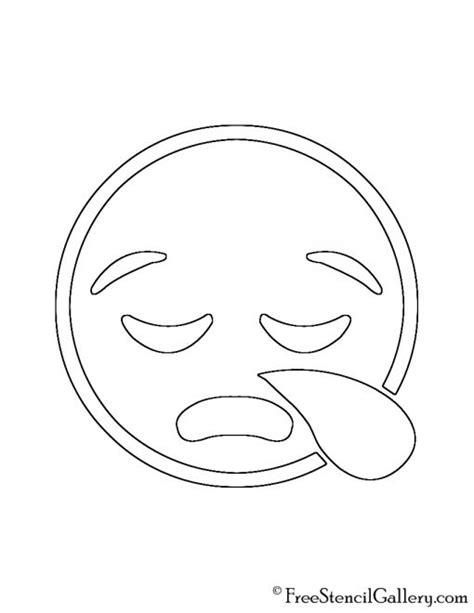 printable pumpkin stencils emoji emoji sleepy stencil free stencil gallery