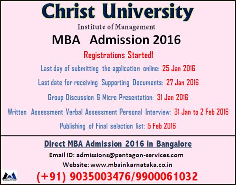 Mba Admission 2017 In Bangalore by Mba Admission 2016 Process Mba 2016
