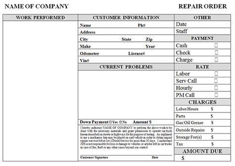 6 auto repair invoice template auto repair invoice template invoice exle