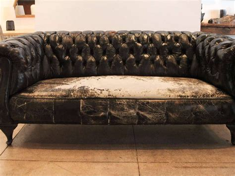 small chesterfield sofa small leather chesterfield sofa montana leather