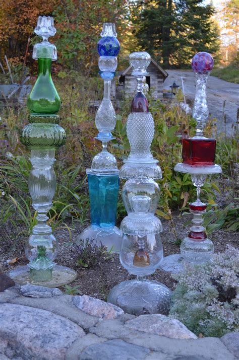 glass for the garden macgirlver garden totems recycled glass