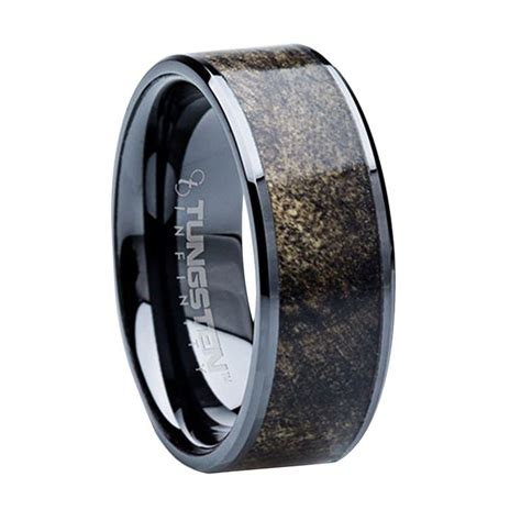 8 mm unique mens wedding bands titanium buckeye wood