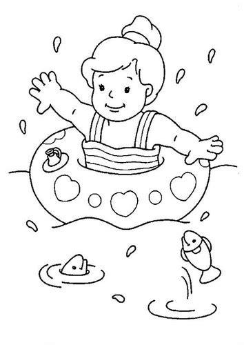 coloring page boy swimming desenhos para colorir praia o mundo das crian 231 as