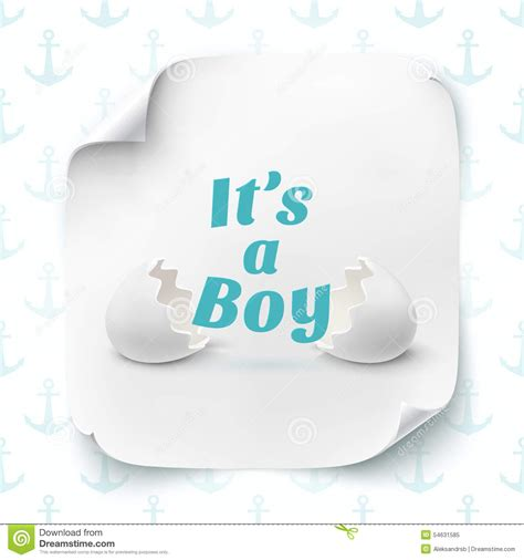 it s a card template its a boy template for baby shower celebration stock
