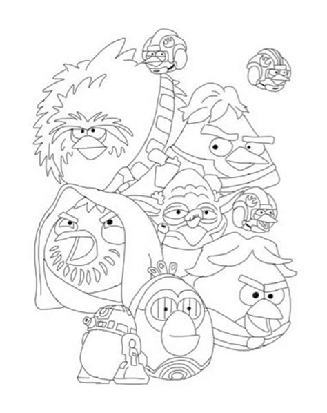 angry birds wars rebels coloring pages 78 best images about wars and angry birds on