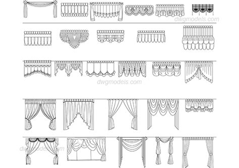 Construction Plan Symbols window curtains dwg free cad blocks download