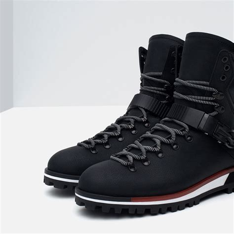 zara boots mens zara mountain inspired boots in black for lyst
