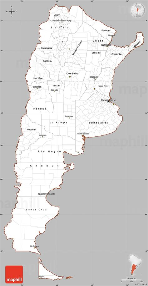 gray simple map  argentina cropped