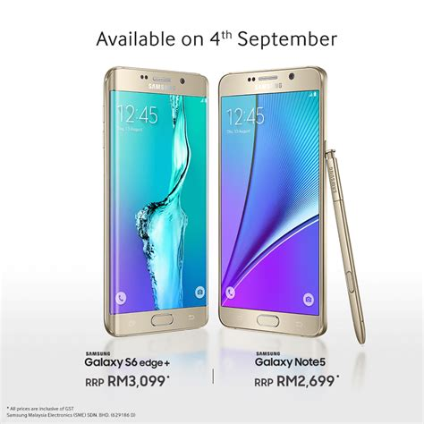 Harga Samsung S6 Price samsung announces price on galaxy note 5 and edge 6 pc