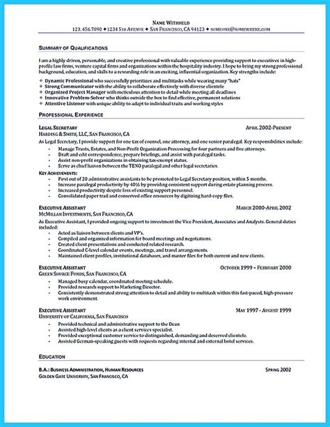 Resume Profile Exles Executive Assistant 25 Best Ideas About Resume Format On