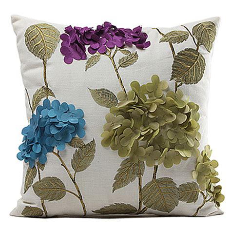 decorative pillows for bed ideas feel the home aliexpress com buy fashion 3d embroidered flower