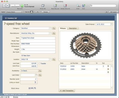 Filemaker Pro Inventory Templates The Mac Office Inventory Filemaker Pro 12 Starter Solution