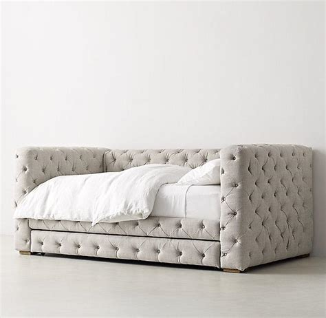 Tufted Daybed With Trundle Tribeca Beige Tufted Daybed With Trundle